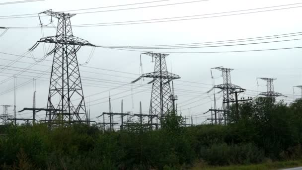 Elektrárna na pochmurný den, znečištění ovzduší, průmysl, globální oteplování