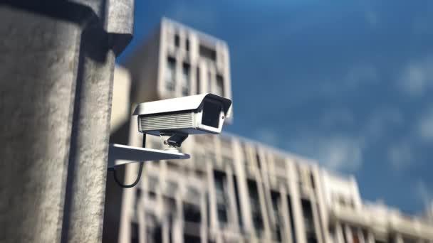 Cctv camera monitoring street, dohled na veřejných místech, bezpečnostní záběry