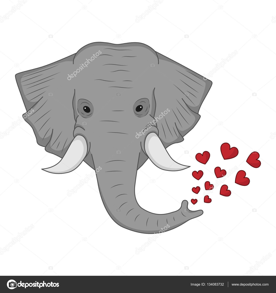 Dessin d un l phant avec un c ur vectoriel image vectorielle antaya 134083732 - Dessin d un elephant ...