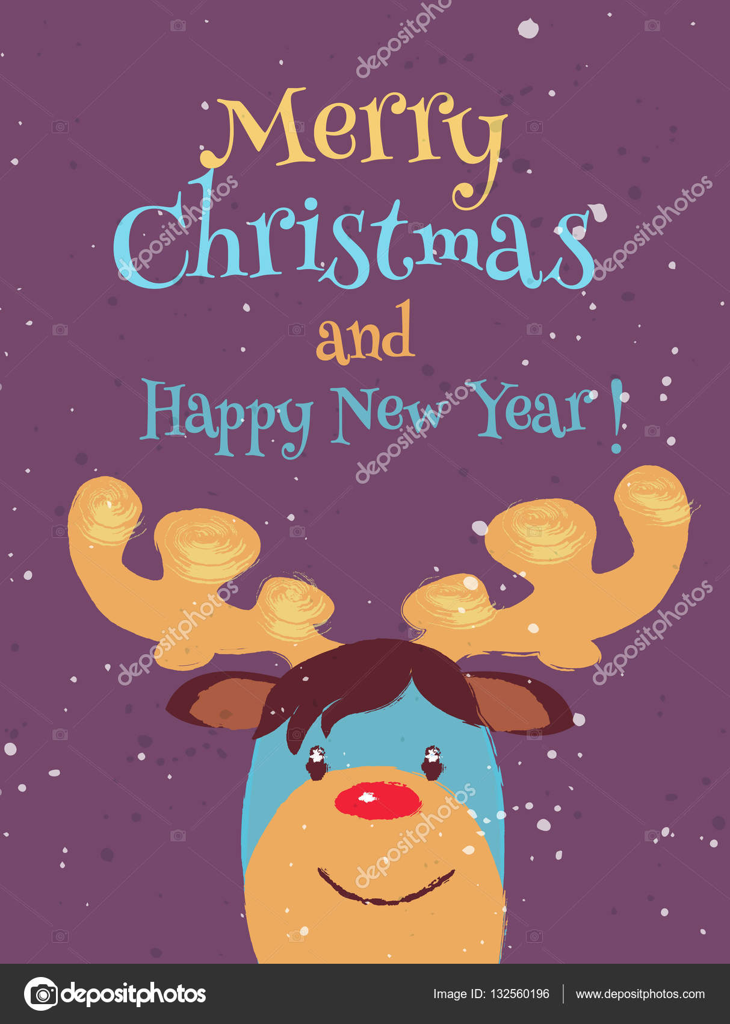 Auguri Di Natale Ridicoli.Biglietto Di Auguri Di Natale Divertenti Vettoriali Stock