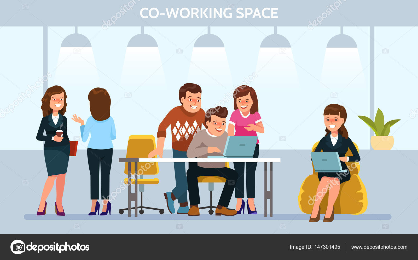 depositphotos_147301495 stock illustration vector illustration young adult people