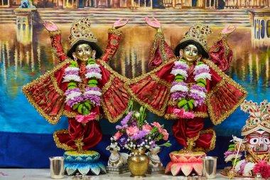 Ariel - 16 February 2017: Sri Sri Nitay-Gauracandra deities stock vector