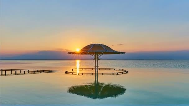 A Holt-tenger, gyorsított 4 k felvételeket napkelte