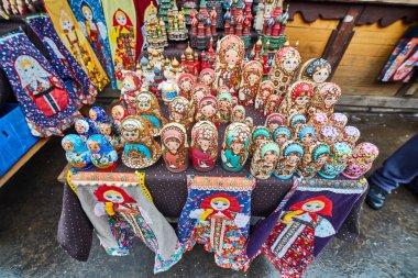 Moscow - 22.04.2017: The market at Izmailovsky Kremlin, Moscow