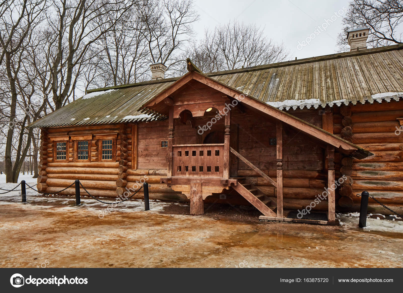 Unglaublich Russisches Holzhaus Dekoration Von Altes , Kolomenskoje, Moskau — Foto Von