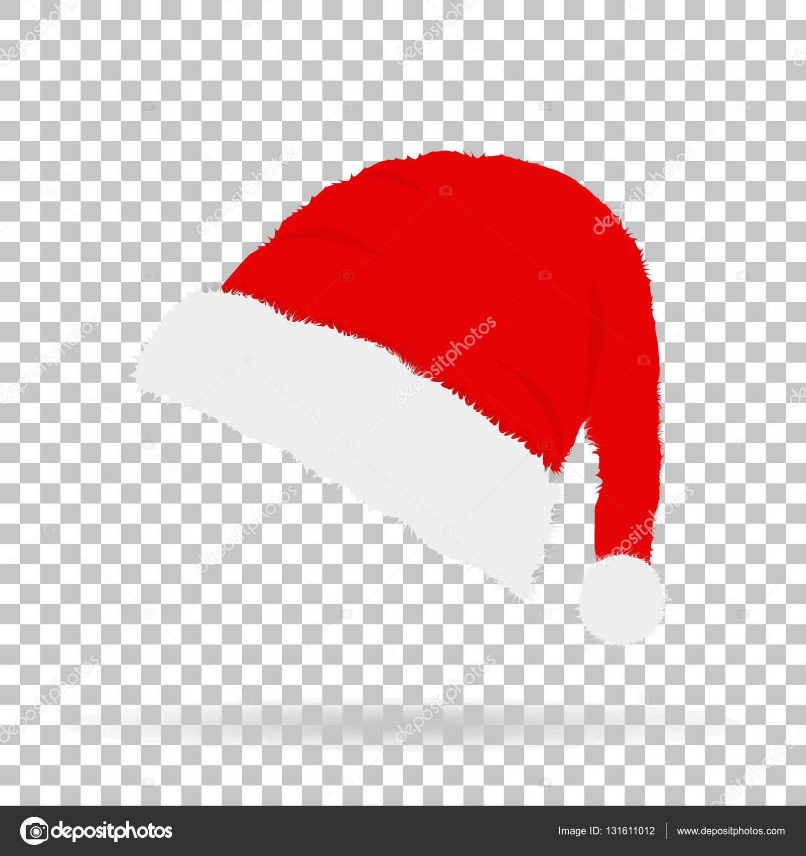 Aislar un gorro de Santa Claus en Navidad y año nuevo con sombra en el  fondo 25681e2616a