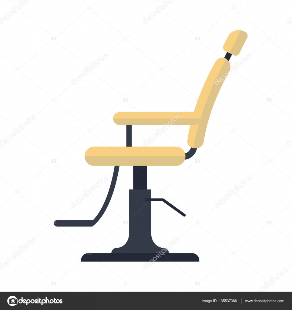Barber chair vector - Flat Barber Chair Logo Icon Isolated On White Background Vector Stock Illustration Ecuipment For