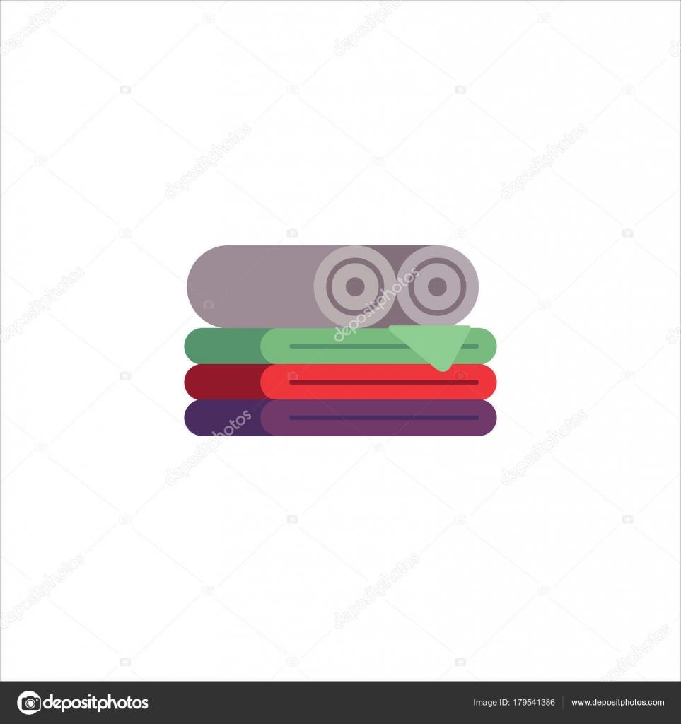 Set of colorful towels for bathroom, kitchen, spa, hotel design ...