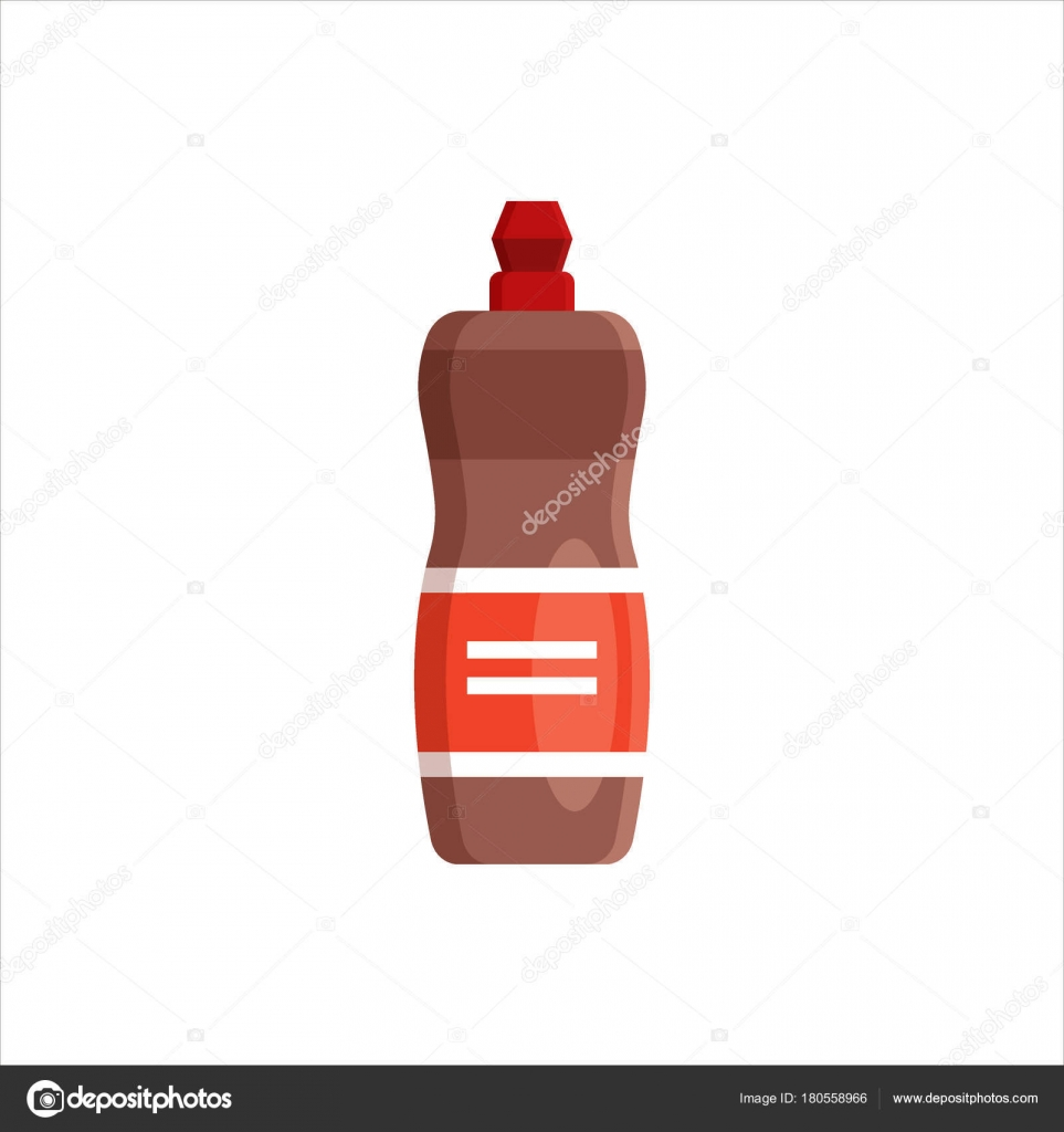 Plastic bottle isolated on white background. Cleaning service logo ...