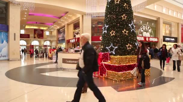 Time lapse of people shopping before Christmas