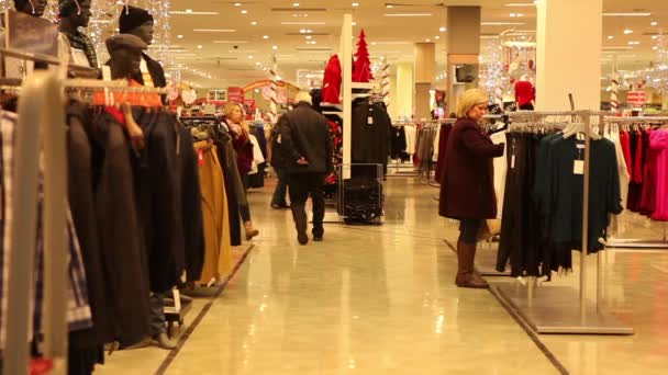 People shopping before Christmas