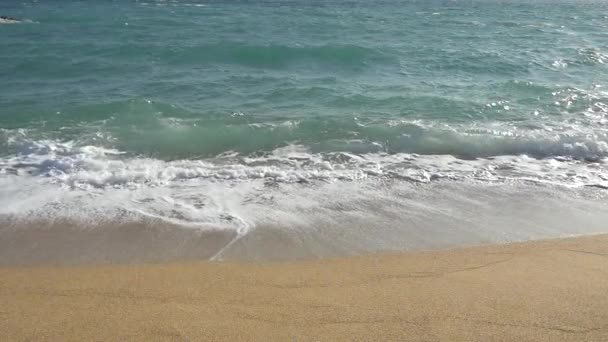 Slow Motion sandy beach waves