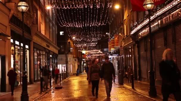 Christmas decorations on Dublin streets