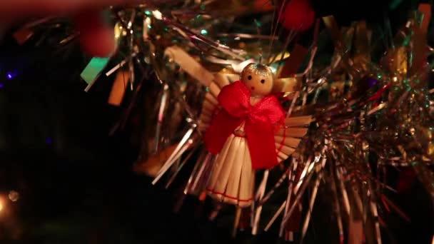 Christmas angel decoration on tree