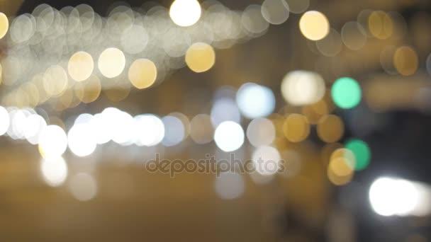 Flickering lights in Barcelona on Christmas