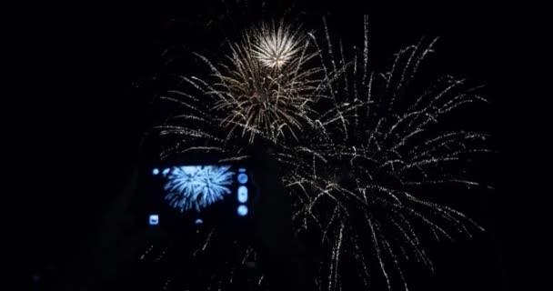 Ohňostroj velký finále Usa 4.července nový rok oslava