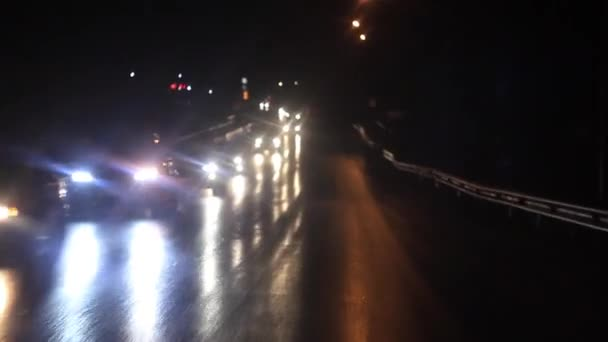 Lights oncoming cars stock video venerala 126981734 lights oncoming cars stock video aloadofball Images