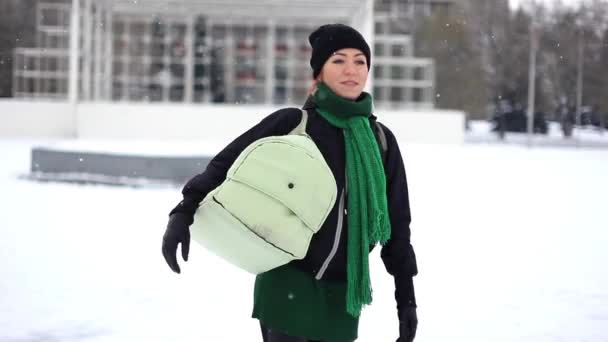 girl with baby in winter