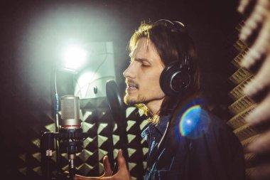 Man singing in the Studio