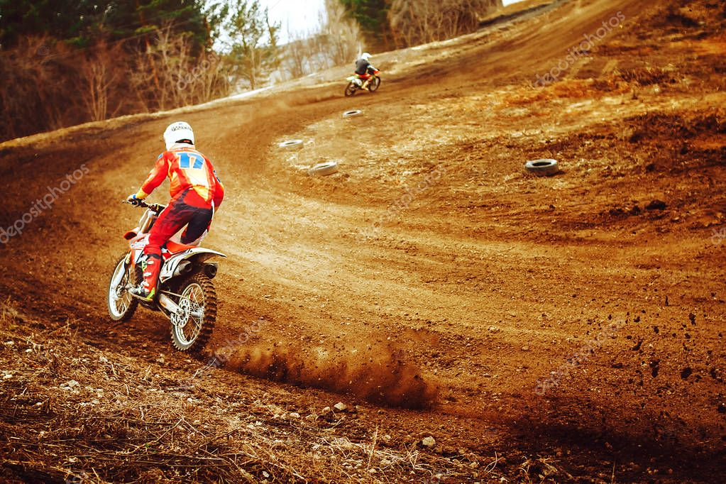 motocross competitions on the track