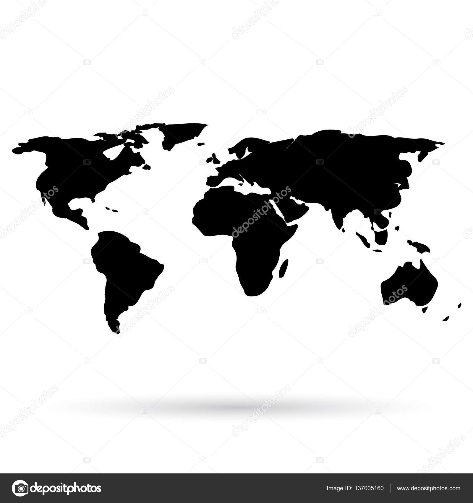 World map black icon on white background stock vector world map black icon on white background stock vector gumiabroncs Image collections