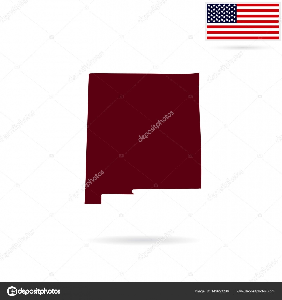 map of the u s state of new mexico on a white background ameri stock