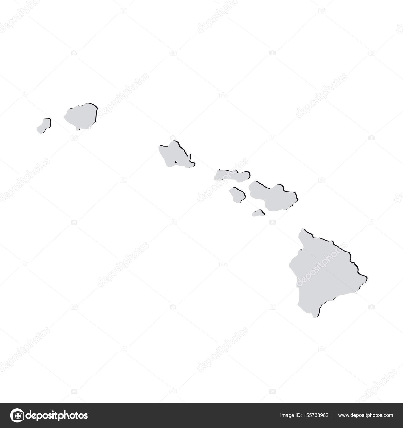 Picture of: Map Of The U S State Of Hawaii On A White Background Stock Vector C Tatyanabezrukova70 Gmail Com 155733962