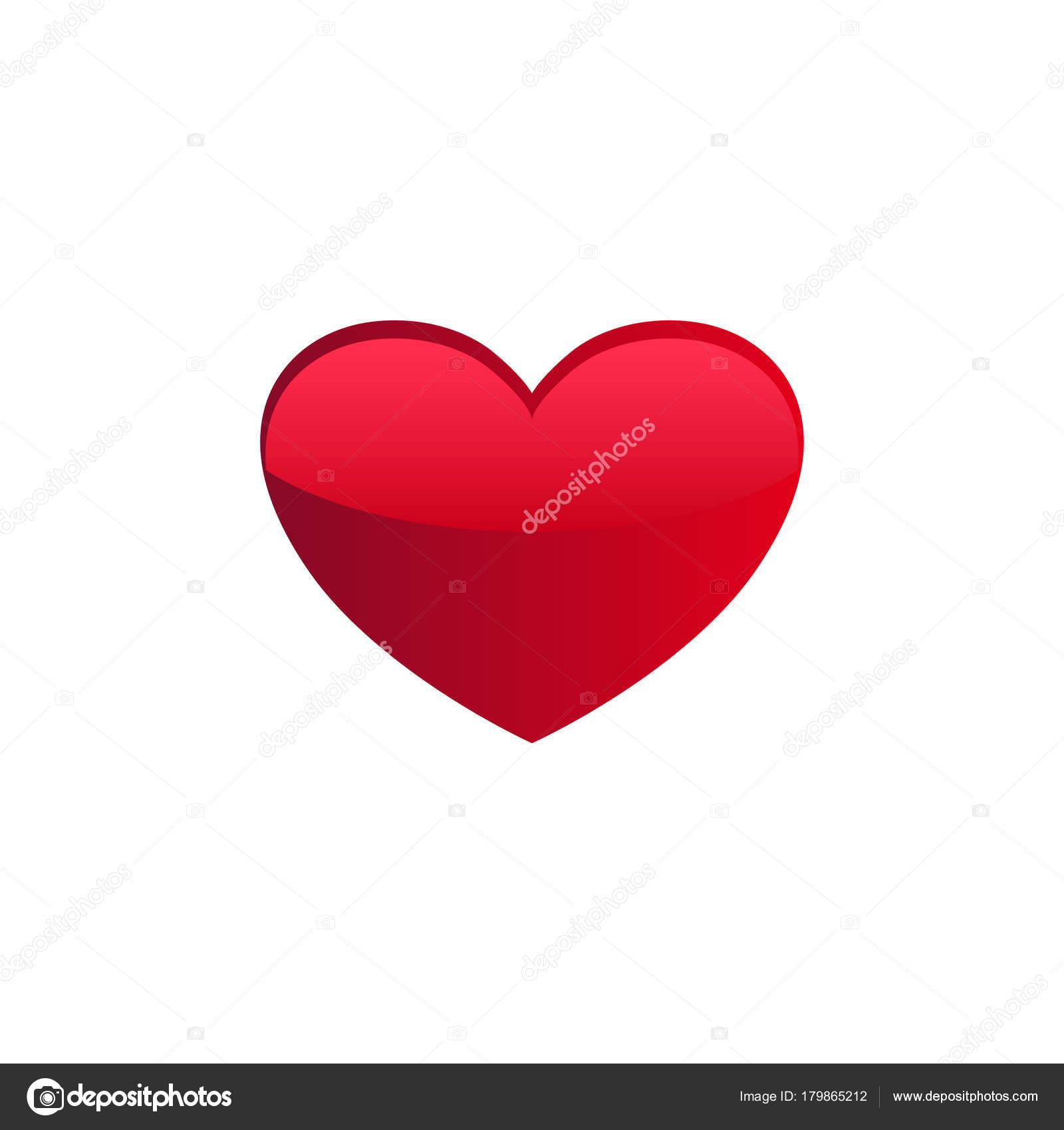 Icona Di Un Cuore Rosso Su Sfondo Bianco Vettoriali Stock