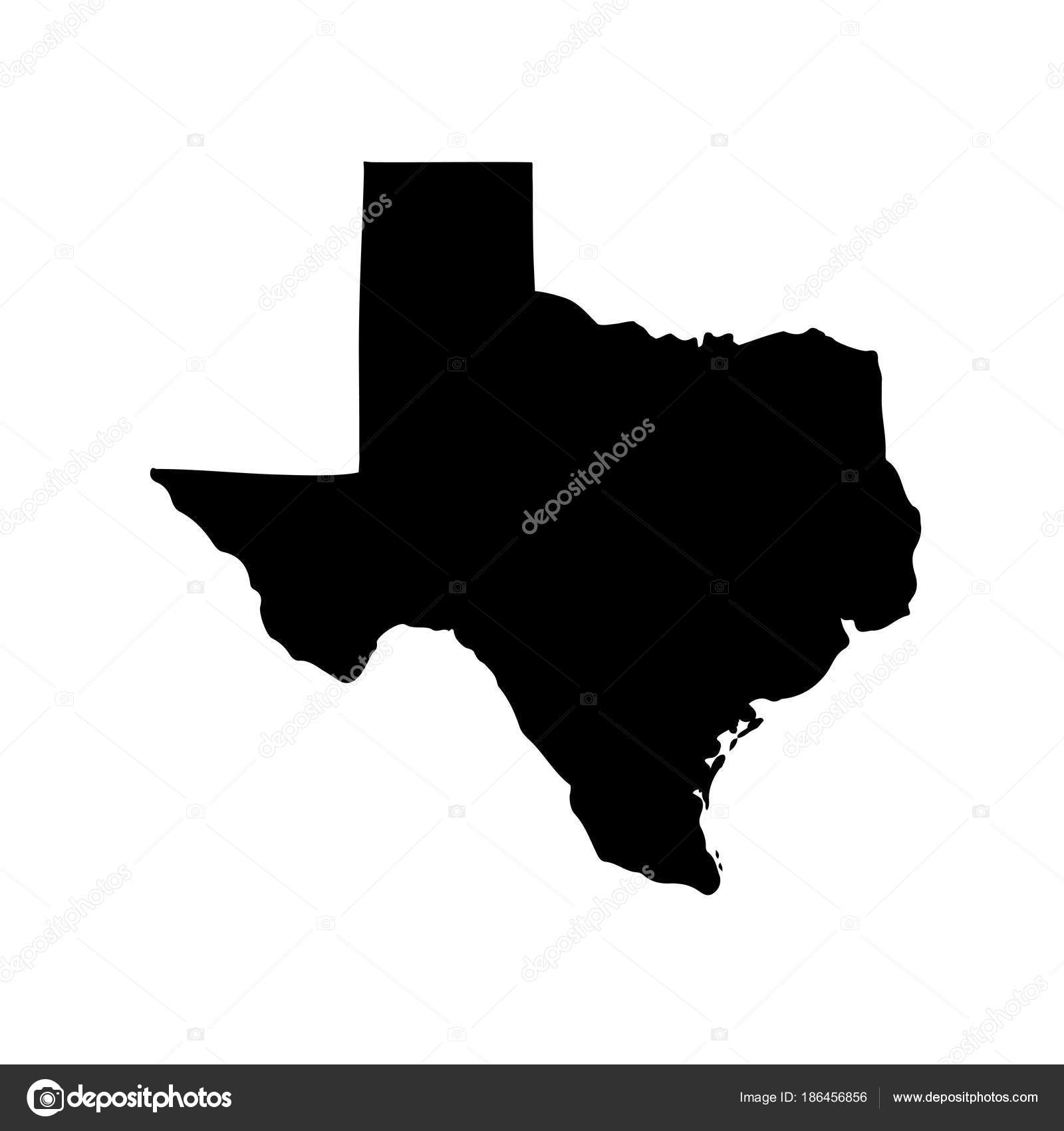 Map of the U.S. state of Texas on a white background. — Stock Vector ...