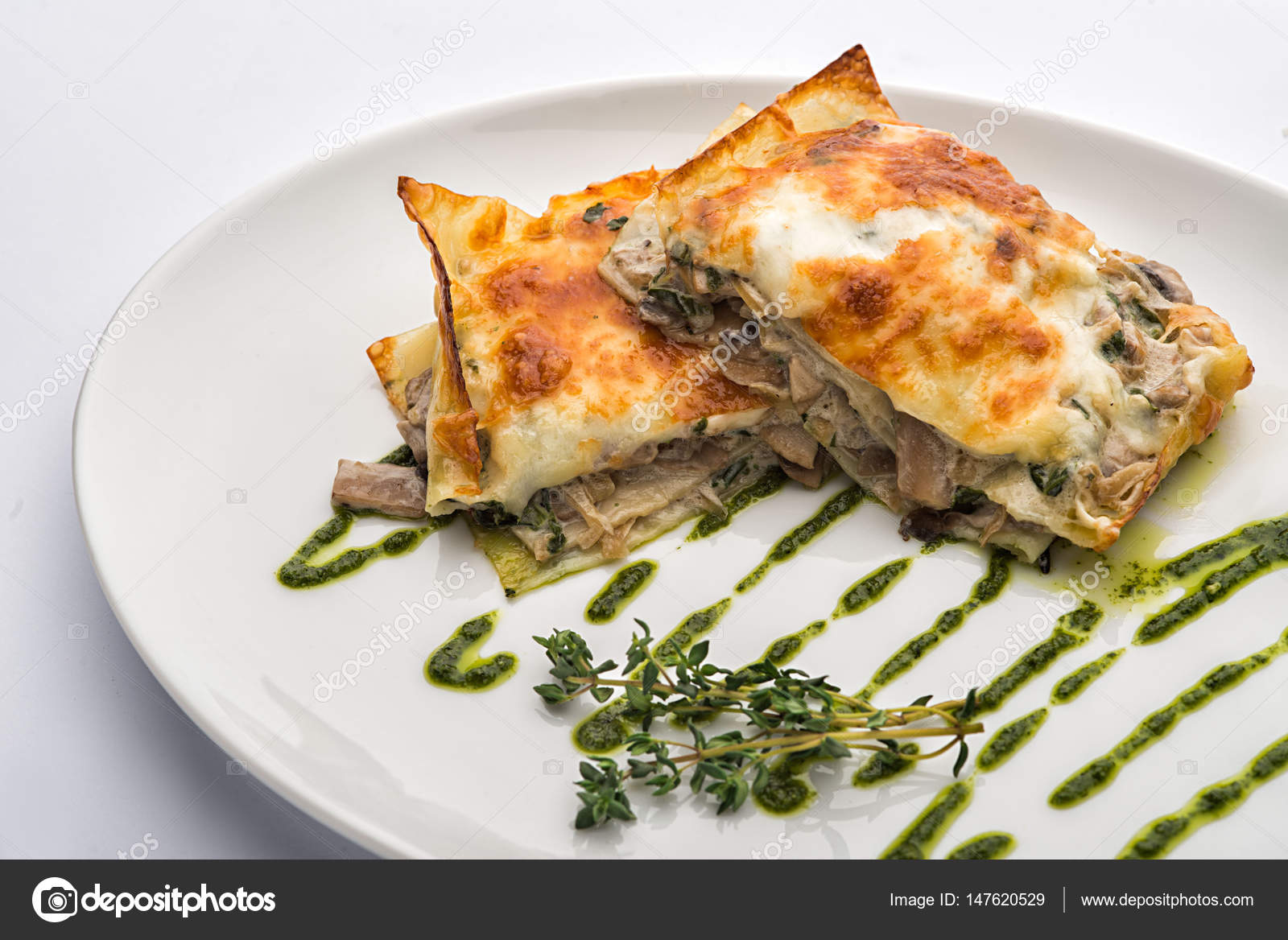 Meat pie on a plate. u2014 Stock Photo & Meat pie on a plate. u2014 Stock Photo © Onradi #147620529