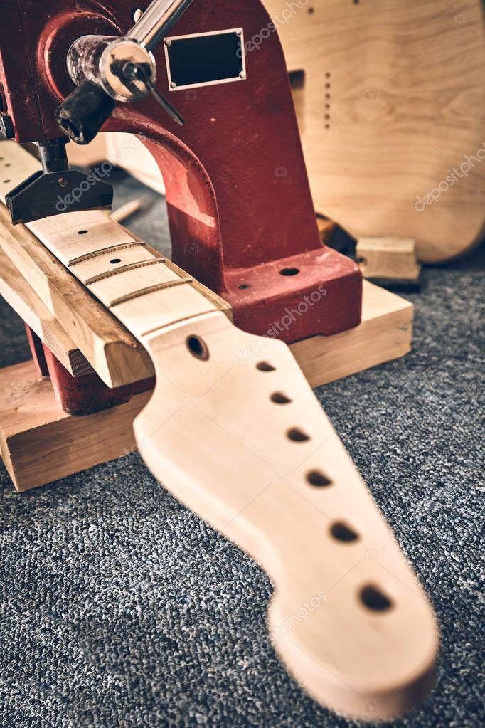 Manufacture of guitars of the Ukrainian brand Woodstock.