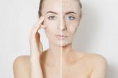 nő szépség arc portré vizualizáció régi bőr