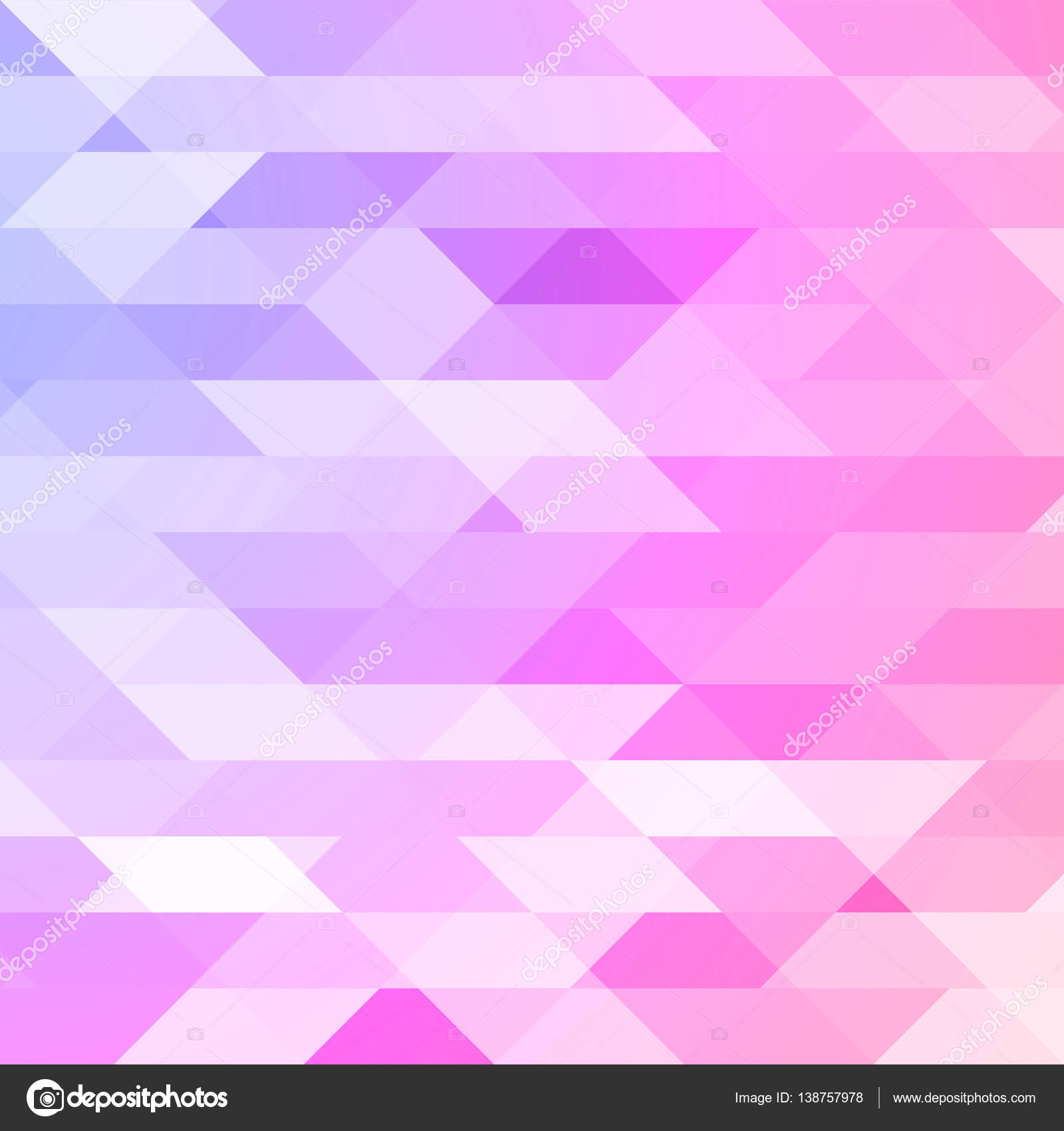 Purple Polygonal Abstract Background: Colorful Pink, Violet Polygonal Background. Triangular