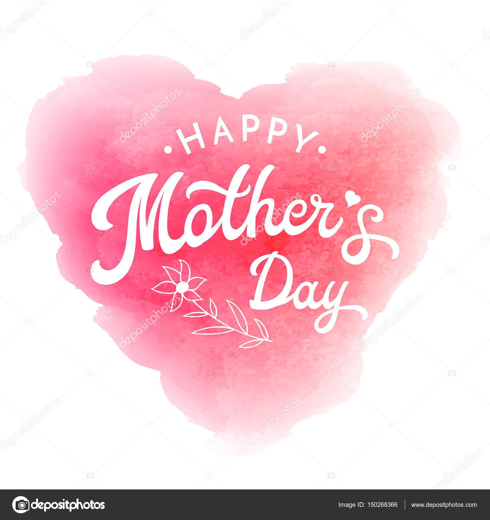Alles Gute zum Muttertag. Karte oder Plakat Vorlage mit Blumen- und ...