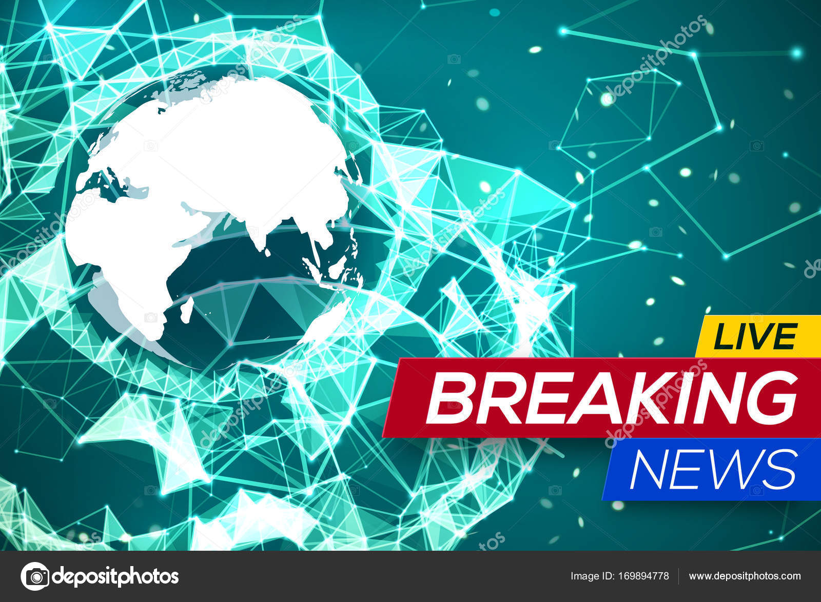 Breaking news live with world map africa and europe on green breaking news live with world map africa and europe on green structure background business technology gumiabroncs Choice Image