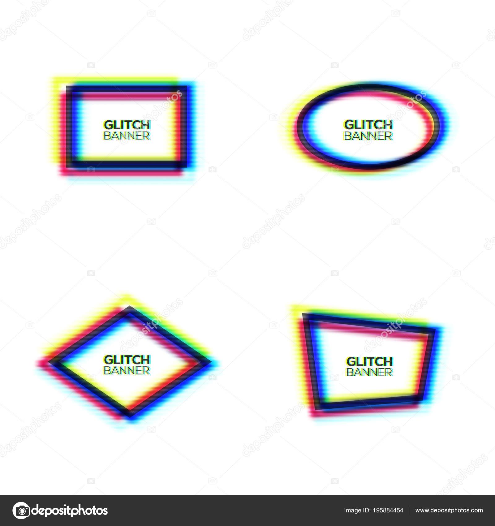 Conjunto de marco textura glitch distorsionada. Abstracto moderno ...