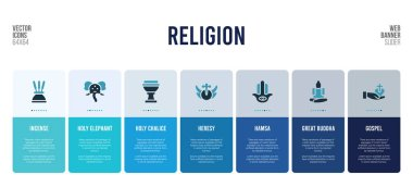 web banner design with religion concept elements.