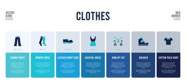 web banner design with clothes concept elements.