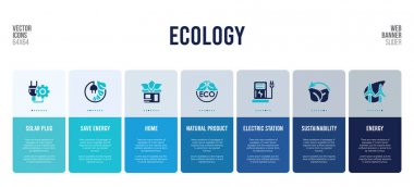 web banner design with ecology concept elements.