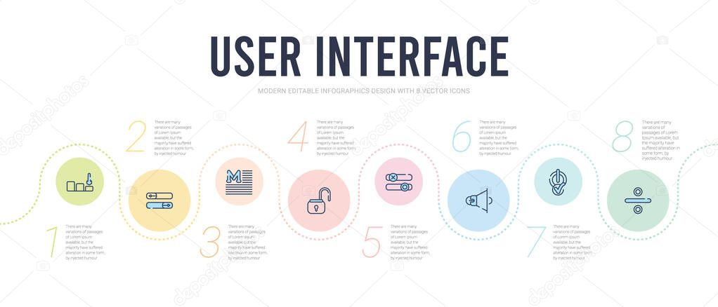 User Interface Concept Infographic Design Template Included Division Activated Low Volume Desativated Unblocked Medium Icons Premium Vector In Adobe Illustrator Ai Ai Format Encapsulated Postscript Eps Eps Format