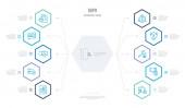 gdpr concept business infographic design mit 10 Sechskantoptionen