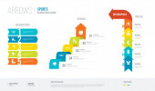 Fotografie Pfeile Stil Infografik Design von Sport-Konzept. Infografik