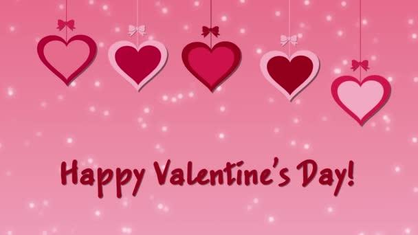 Felvételeket boldog Valentin-napot a szív egy rózsaszín háttér