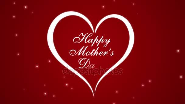 Felvételeket Boldog anyák napja a szív egy piros háttér