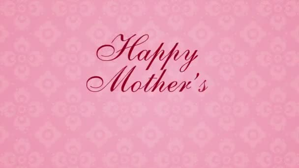 Footage Happy Mothers Day with hearts on a pink background