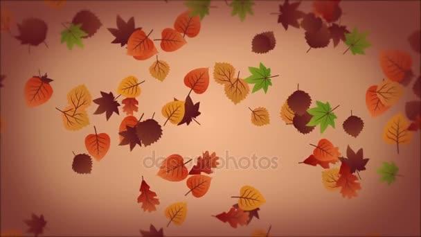 Podzimní pozadí s padajícími listy