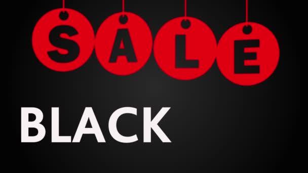 Černý pátek prodej na černém pozadí