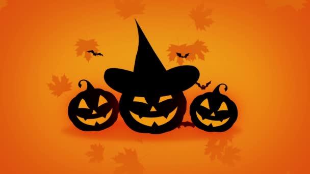 Boldog Halloween sütőtök és a denevérek