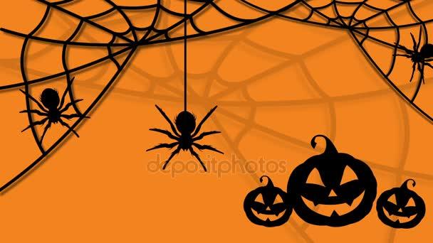Boldog Halloween sütőtök és a pókok