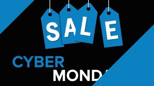 Cyber-Montagsverkauf auf schwarzem Hintergrund